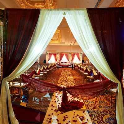 Ethnical wedding ceremony decor