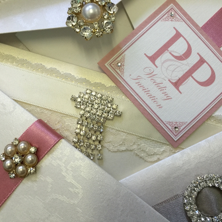Dazzling Art Deco Wedding Invitation