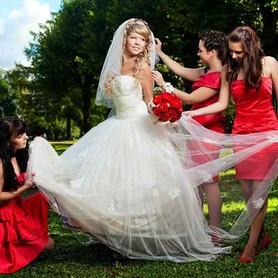 Red ball gown wedding dresses
