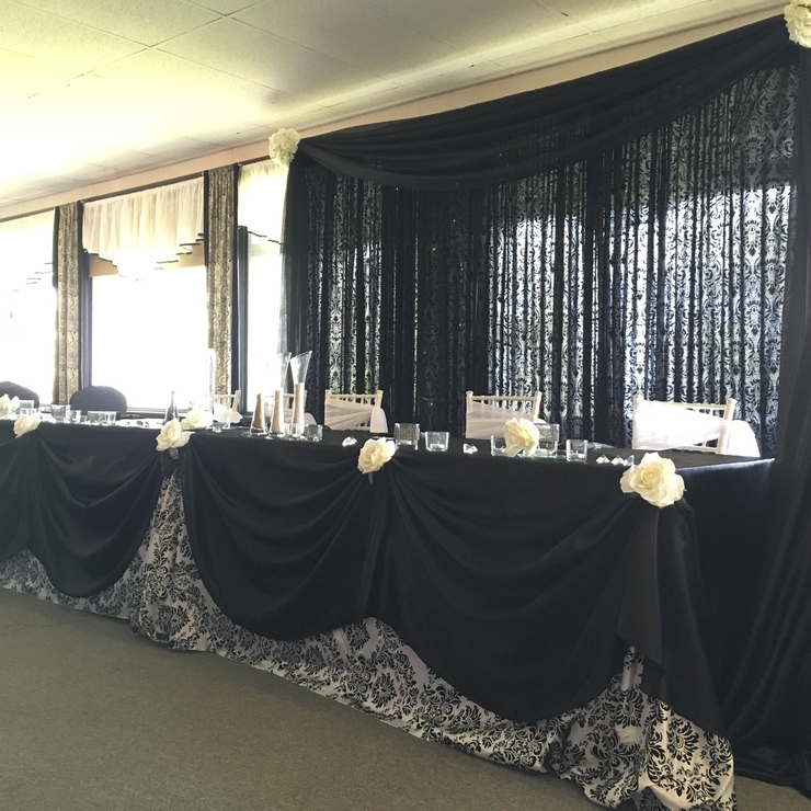 Black and White Damask P2 Wedding Collection