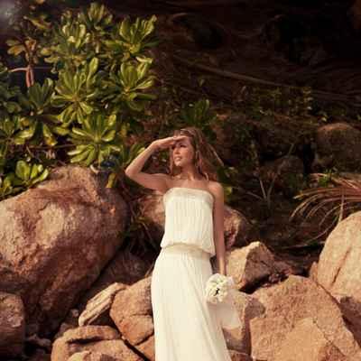 Mediterranean long wedding dresses