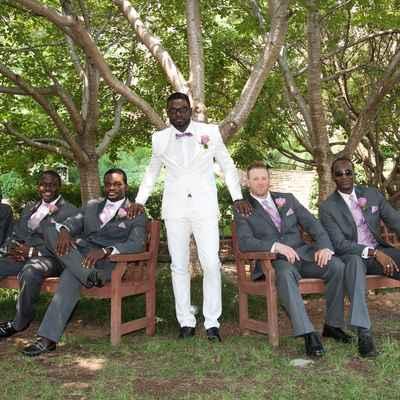 Grey wedding guests