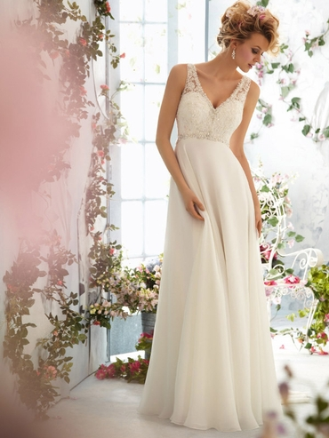 Mediterranean straight wedding dresses