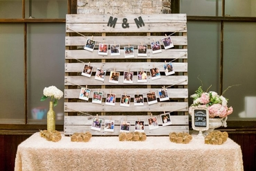 Rustic wedding reception decor