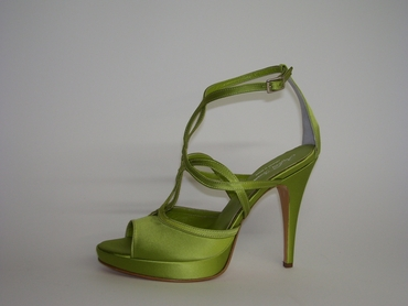 Green wedding shoes