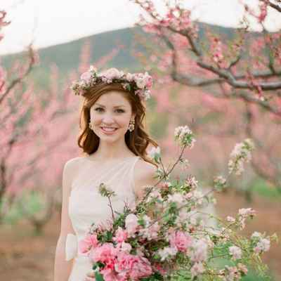 Spring pink real weddings