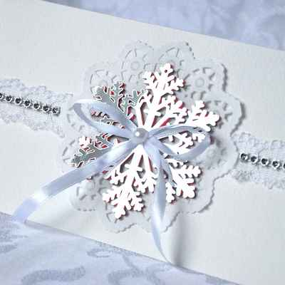 Winter white wedding invitations
