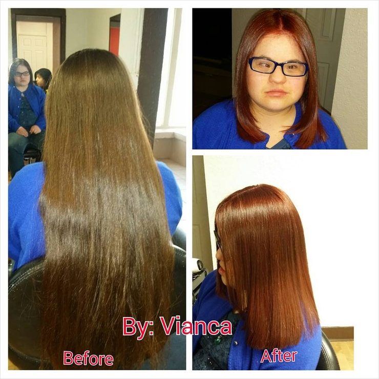 Hair color and Haircut 1