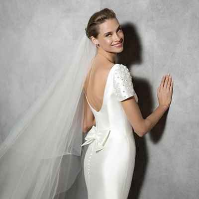White short sleeve wedding dresses