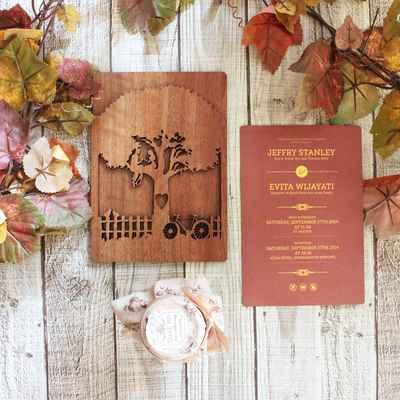 Red wedding invitations