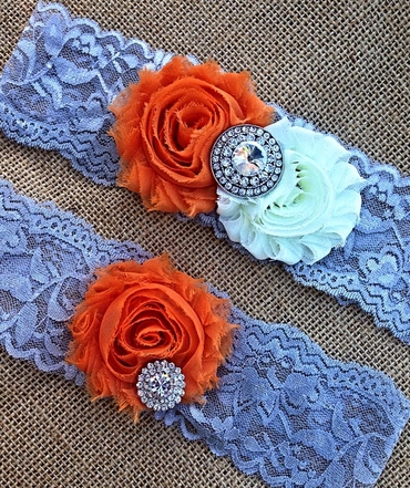 Orange wedding headpieces, veils, cover-ups & brooches