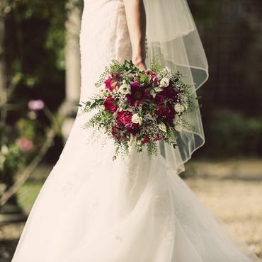 Ivory gerbera wedding bouquet