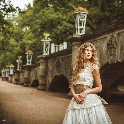 French brown corset wedding dresses