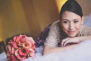 Pink calla wedding bouquet
