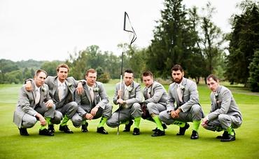 Outdoor summer grey groom style