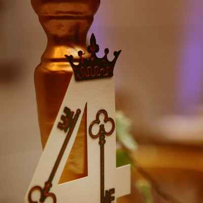 Themed gold wedding signs