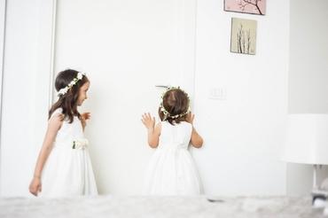 Overseas white kids at wedding