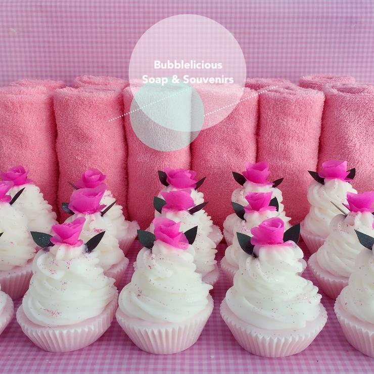 Rose Cupcake Soap