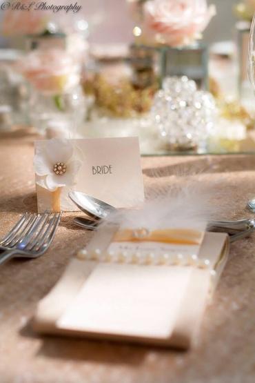 Ivory wedding signs
