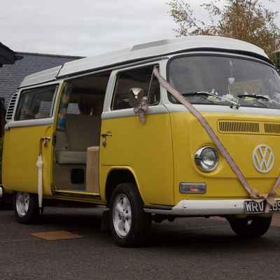 Yellow wedding transport
