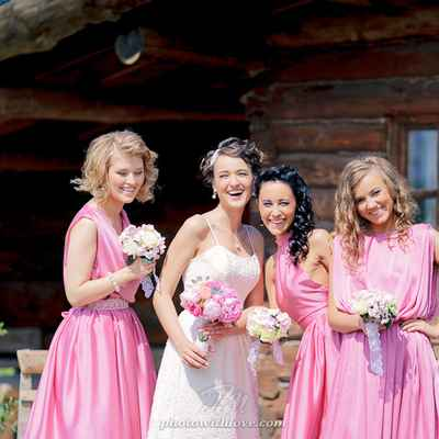 Pink real weddings