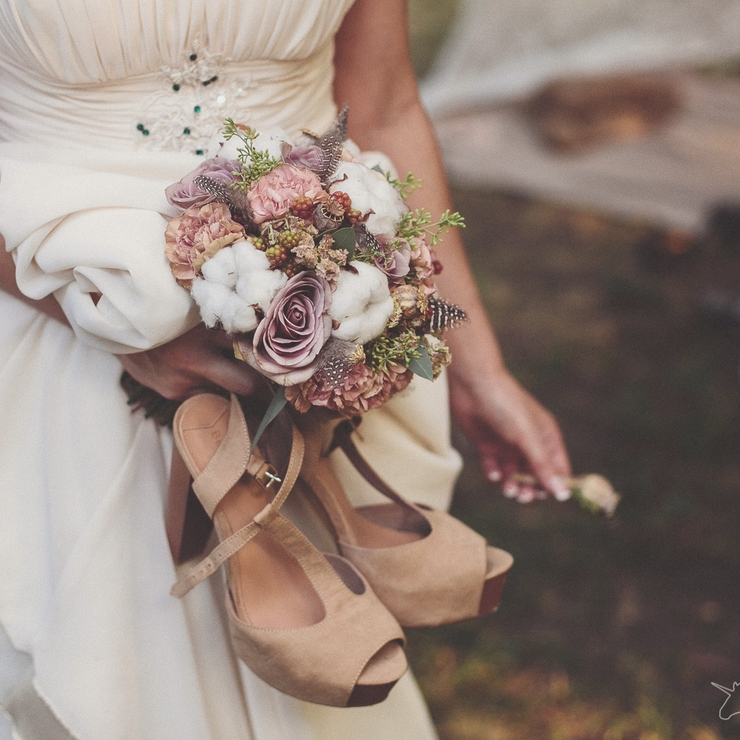 Rustic brown alternative wedding bouquet