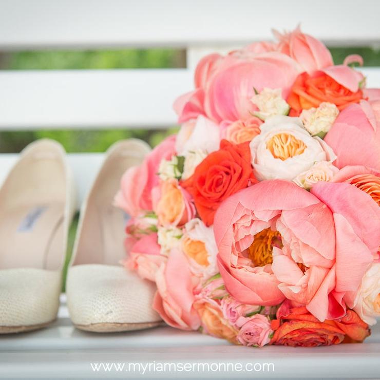 Julie & Quentin, coral wedding