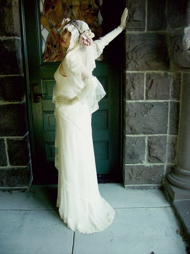 American ivory long wedding dresses