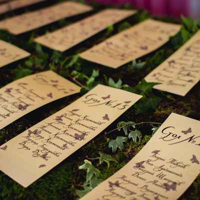 Green wedding signs
