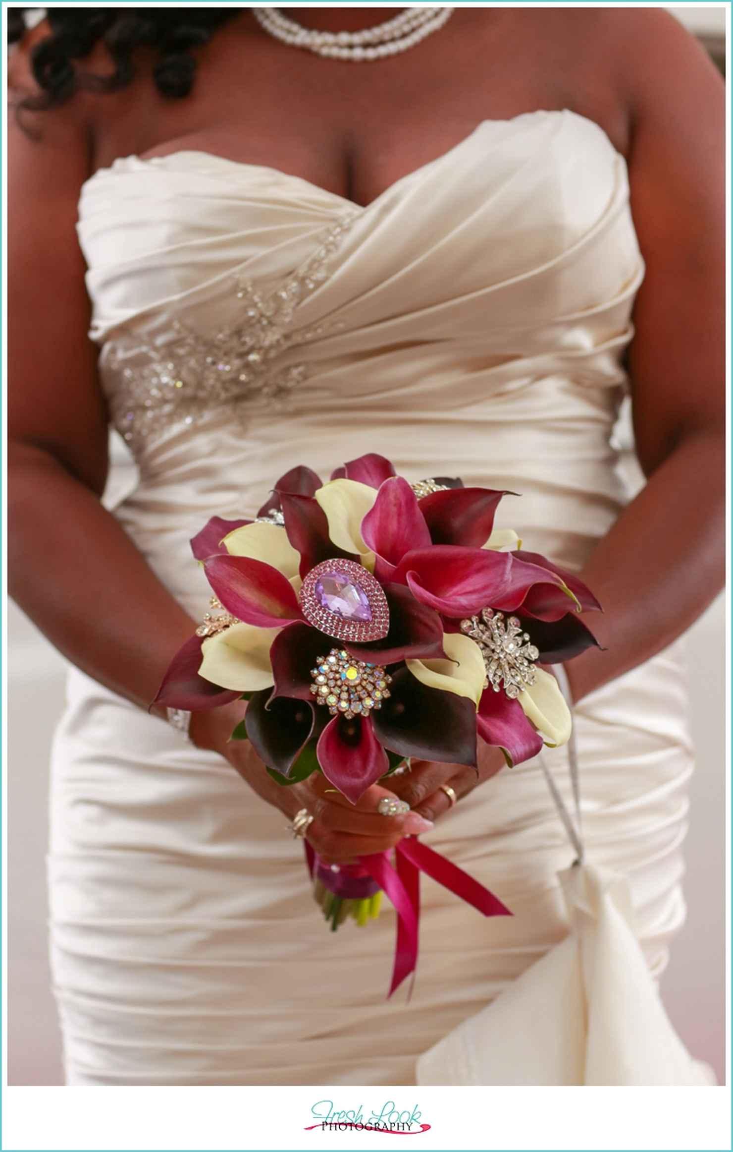 Ivory calla wedding bouquet