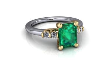 Green wedding rings