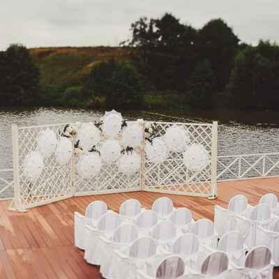 French autumn wedding ceremony decor