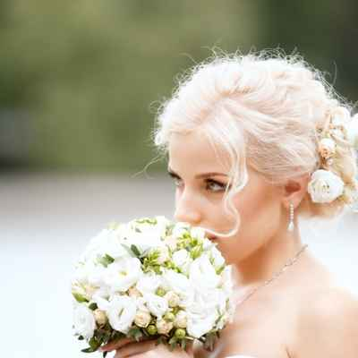 White long wedding hairstyles