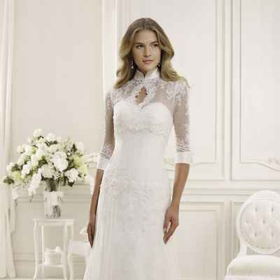 English closed wedding dresses