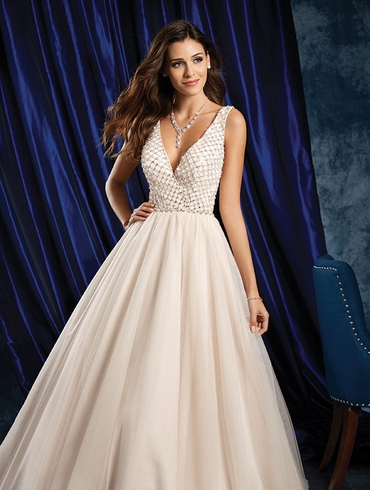 Ivory closed wedding dresses