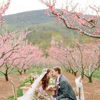 Spring pink real weddings