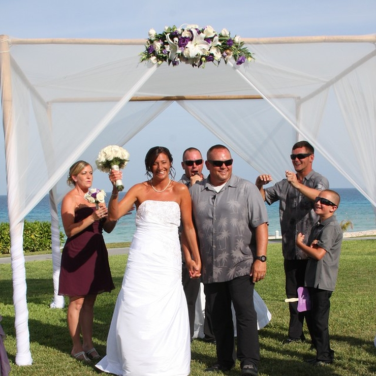 Tracey and Doug's wedding in Cancun, Mexico