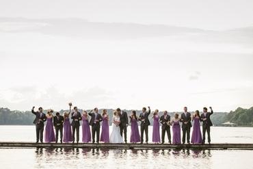 Purple wedding photo session ideas