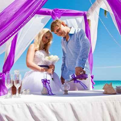 Overseas purple real weddings