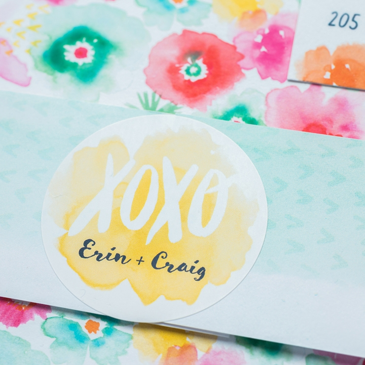 Erin + Craig's Tropical Blooms Destination Wedding Invitations