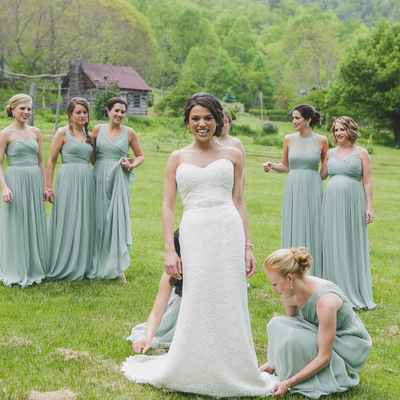 Outdoor summer white long wedding dresses