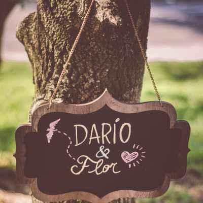 Black wedding signs