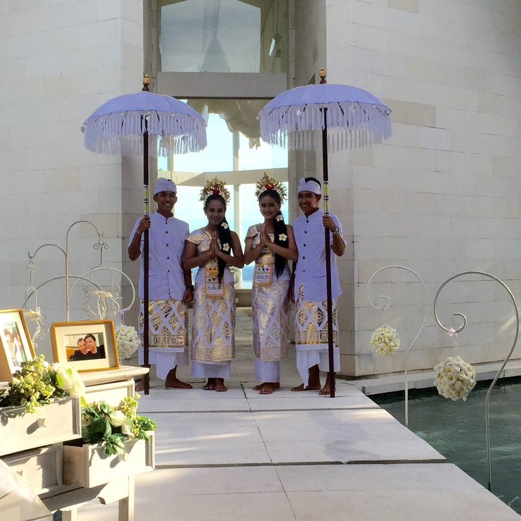 Mr Franco & Ms Ieki Holy Matrimony @ Ocean Cliff Chapel Bali