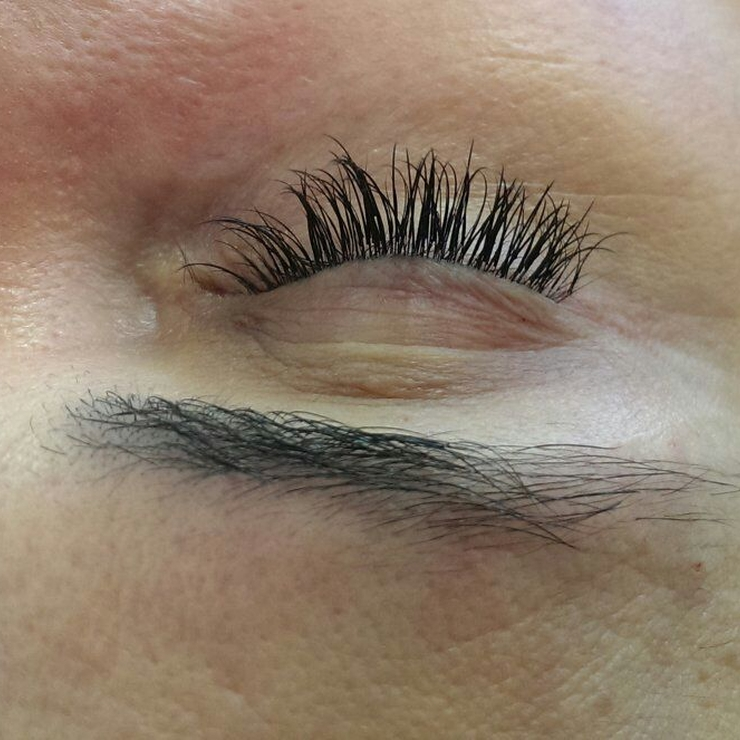 before and after eye lash extensions