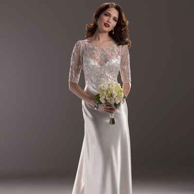Vintage short sleeve wedding dresses