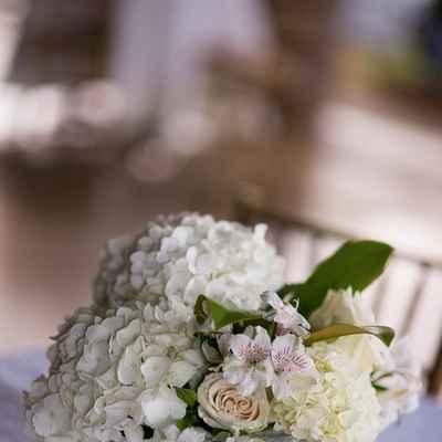 Ivory wedding floral decor