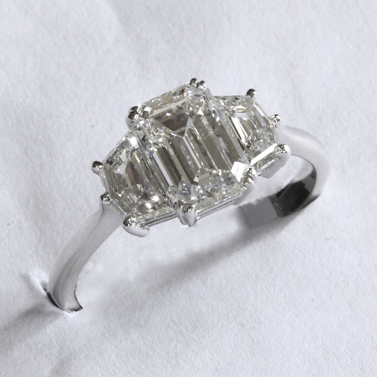 Passion Collection platinum 1.69ct EC center ring