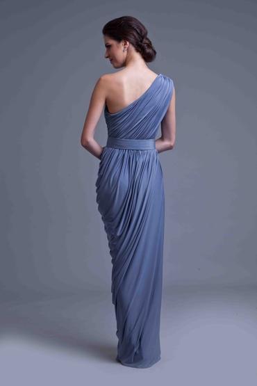 Blue long wedding dresses