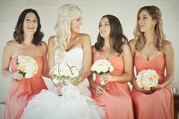 Overseas orange bridal hair and make-up