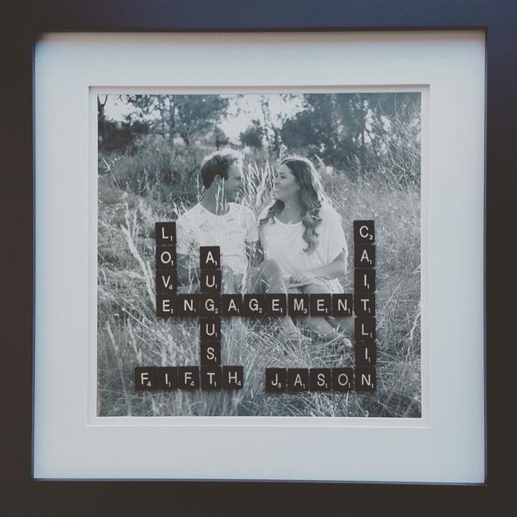 Personalised Photo Engagement Frame.